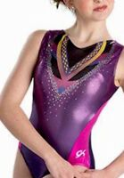 Cirque Du Soleil GK Elite LEOTARD Gymnastics PURPLE PINK Sequin BLING Sz: AM