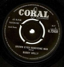 BUDDY HOLLY Brown Eyed Handsome Man Vinyl Record 7 Inch Coral Q 72459 1963