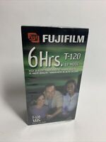 Sealed Lot of 2 FUJI FILM T-120 6 Hour EP Mode Recordable Blank VHS Video Tapes