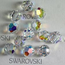 12 pcs Swarovski Element 5000 7mm Faceted Crystal Round Ball Beads Clear AB