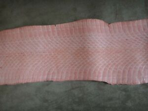 """Real  Snake Skin  Hide Leather Craft Supply Sewing- Pink -  54"""" by 4/12"""" Taiwan"""