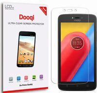6X Dooqi HD Clear LCD Screen Protector Shield Cover Guard For Motorola Moto C
