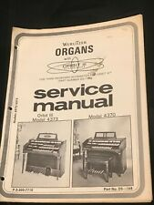 Vintage Service Manual Wurlitzer Organ Orbit III Model 4373 - 4370