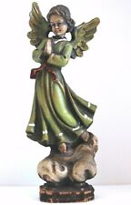 Rare Atq Vtg Anri Nativity Angel Old Hand Carved Wood Riffeser Ulrich Bernardi ?
