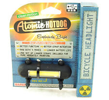 Clean Motion Atomic Hotdog Bike LED Safety Front Light USB Rechargeable Black