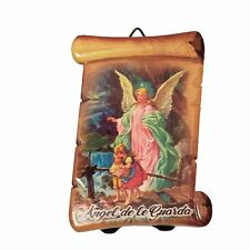 "3"" Inch Angel de la Guarda Religious wall and table plaque GUARDIAN ANGEL plate"