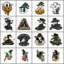 Brooch Pin Jewelry Halloween Gift Cartoon Enamel Badge Plague Doctor Crow Raven