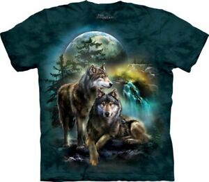 Ref: MT4978 - The Mountain Unisex Wolf lookout Animal T Shirt unisex