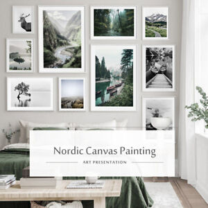Home Decor Nordic Minimalist Posters and Prints Wall Art Nature Mountain