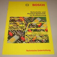 Technische Information Bosch Sicherheit + Komfort Elektronik im KFZ 06/1983!