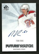 2011-12 SP Authentic Future Watch Rookie Autograph #262 RAPHAEL DIAZ   #758/999