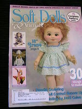 SOFT DOLLS & ANIMALS March 2007 cloth doll patterns, techniques, tips, magazine