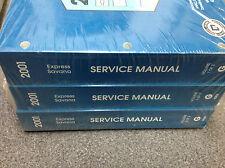 2001 Chevy Express GMC Savana G Van Service Shop Repair Manual Set DEALERSHIP NE