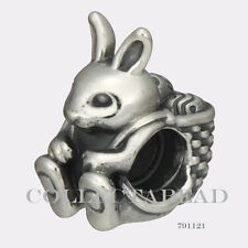Authentic Pandora Sterling Silver Easter Bunny Bead 791121
