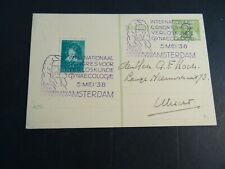 Nederland 303 als bijfrankering op briefkaart stempel Congres voor Verloskunde