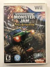 Monster Jam : Path of Destruction [ Nintendo Wii ] Complete w/Case & Manual