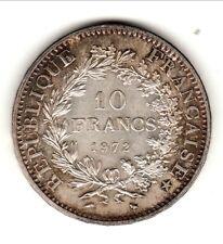 10 francs ARGENT  type HERCULE 1972 SPL/FDC