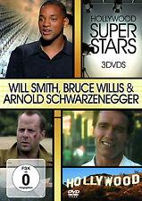 DVD Hollywood Super Stars Bruce Willis, Arnold Schwarzenegger, Will Smith 3DVDs