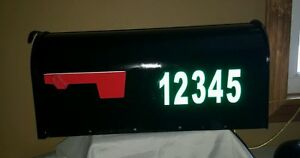 """Mailbox Numbers 2.5"""" HIGHLY Reflective Vinyl Address Number 2 sets various color"""