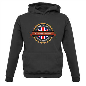 Made In HUDDERSFIELD 100% Authentic - Kids Hoodie Town City Hometown Place