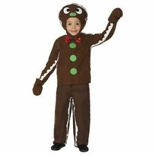 Little Gingerbread Man Party Costume Fancy Dress Children Christmas Boys Medium Age 7 to 9 Years