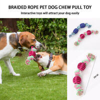 Indestructible Braid Rubber TPR Ball Pet cat Dog Training Chew Play Fetch Bite