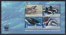 Australia Sg Ms3201 Scott 3080a Xf Mnh 2009 Wwf Endangered Dolphins Mini-Sheet