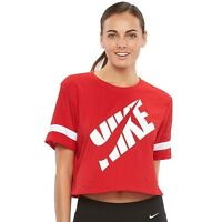 Women's Nike Prep Scoopneck Workout Tee Red Tshirt Tri-blend  gym exercise