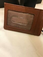 RL Women's Leather Tan Mini Card Cases  Reg. $38