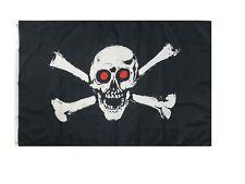 Red Eyes Skull Swords Pirate Flag 3x5ft Pirate Boat Flag Jolly Roger Flag Skull
