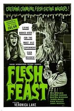FLESH FEAST 1970 hollywood movie poster HORROR MAGGOTS GORE cult fave 24X36