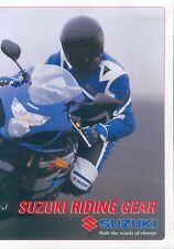 Suzuki Riding Gear prospectus vêtements clothes 2004 moto Brochure moto