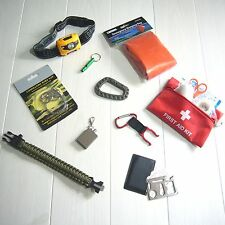 Camping, Backpacking, Hiking Outdoor Survival Kit. Emergency 10 Piece Kit. NEW!