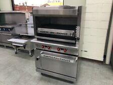 Used American Range Agbu 3 Infrared Upright Broiler With Standard Oven