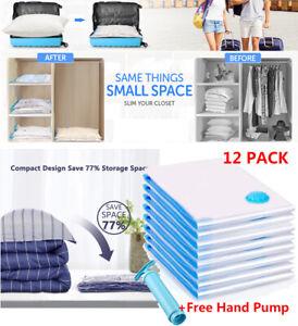 12X Strong Vacuum Storage Bags VAC Space Saving Compressed Bag Vaccum Pack Saver