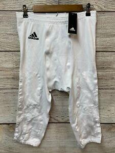 Adidas Football Pants Mens 2XL White Primekm Football Compression Pants New
