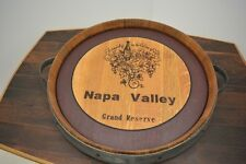 Wine Barrel Lazy Susan Handmade Napa Valley GR
