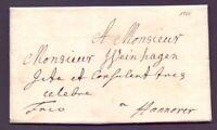 Früher Vorphilabrief Altbrief Bremen 1764 nach Hannover in Top Erhaltung (488)