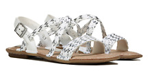 B O C Born Concept Dena Z43401 White Silver Sandals Womens Size 9 M