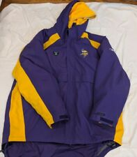 2XL Game used Minnesota Vikings NFL Equipment Reebok sideline parka
