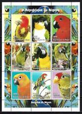 Vögel Niger 1998 Nr. Yvert 1247 à 1255 Serie komplette mit 9 Briefmarken neu