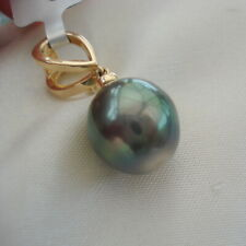 Stunning Multi Coloured Baroque Tahitian Pearl Gold Pendant