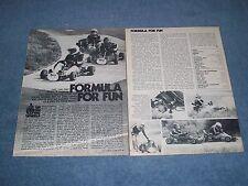 "1978 Yamaha Rc 100S Vintage Go Kart Info Article ""Formula For Fun"""