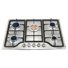 """30"""" Stainless Steel Cooktop 5 Burners Built-in Stoves / Stable Gold Main Burner"""