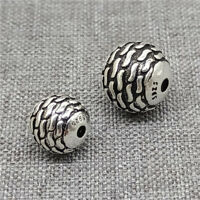 2pcs of 925 Sterling Silver Round Ball Beads 8mm 10mm for Bracelet Necklace
