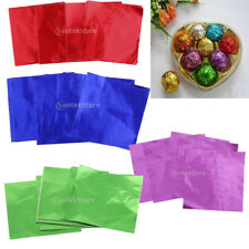 400pcs Multi Square Foil Wrappers for Chocolates Sweets Lolly Party Wedding