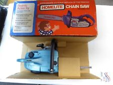 Vintage Toy Homelite Home Lite Model 150 Chainsaw Battery Operated Mint In Box
