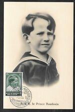 BELGIUM - 1936 PRINCE BOUDEWIJN / BAUDOUIN MAXIMUM CARD - ANTI TB STAMP