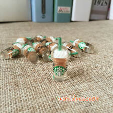 6 Pcs Dollhouse Miniature Starbucks Coffee Cups 1:6 Scale Model Brown