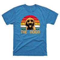 Goldendoodle The Dood Cute Vintage Men's Short Sleeve Tee Black Cotton T-shirt